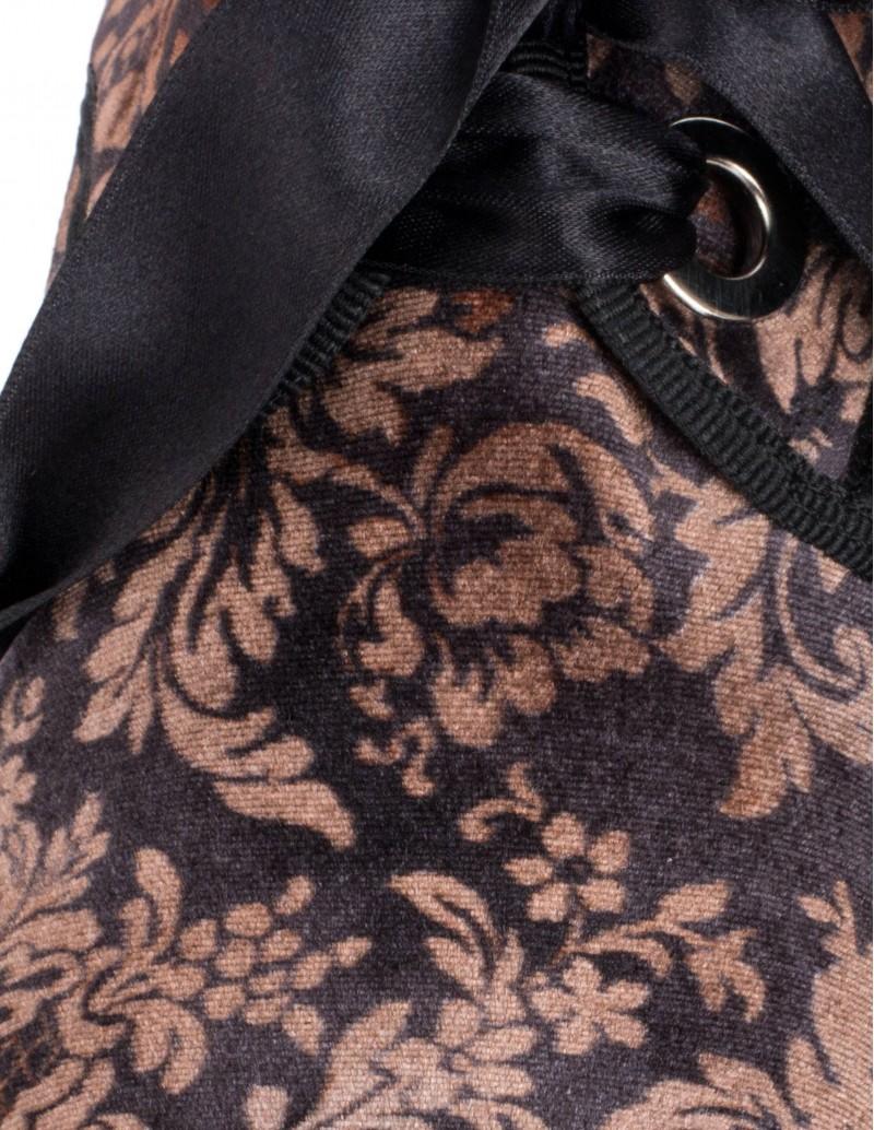 blucher mujer terciopelo negro