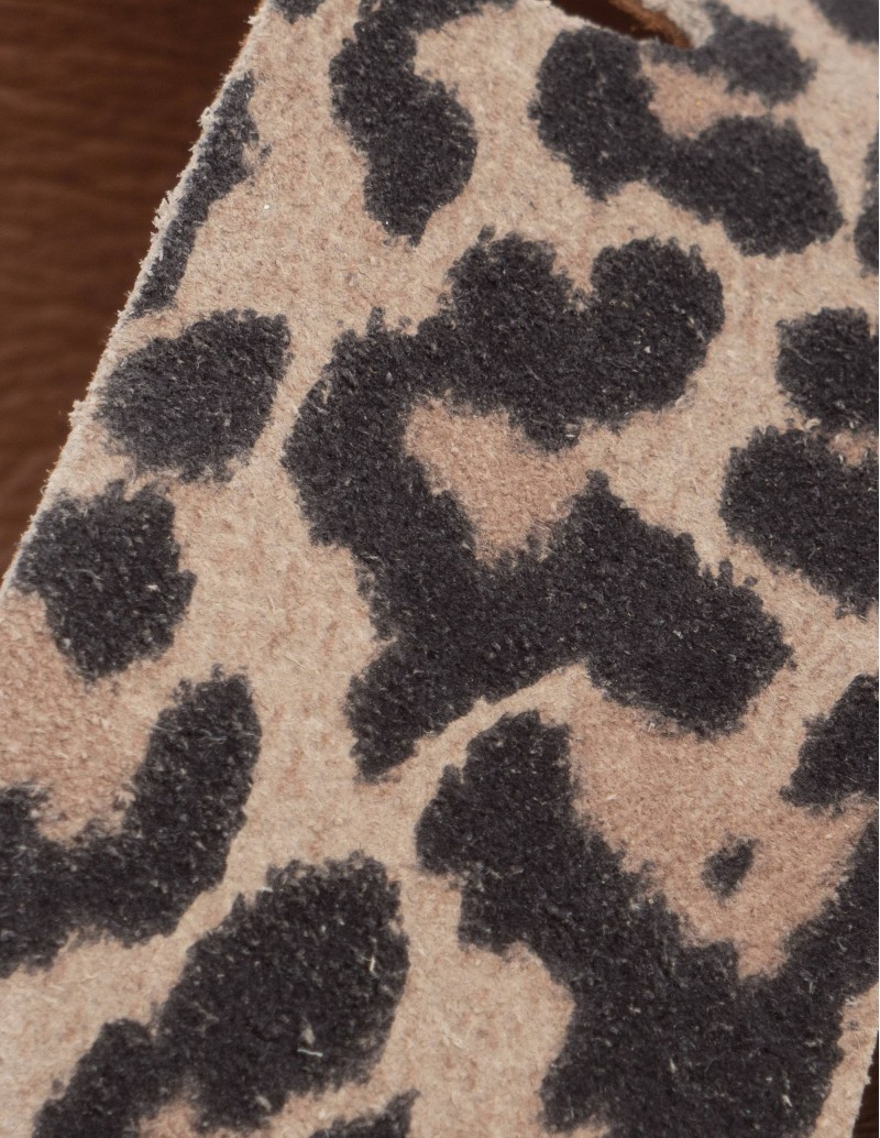 sandalias mujer piel leopardo