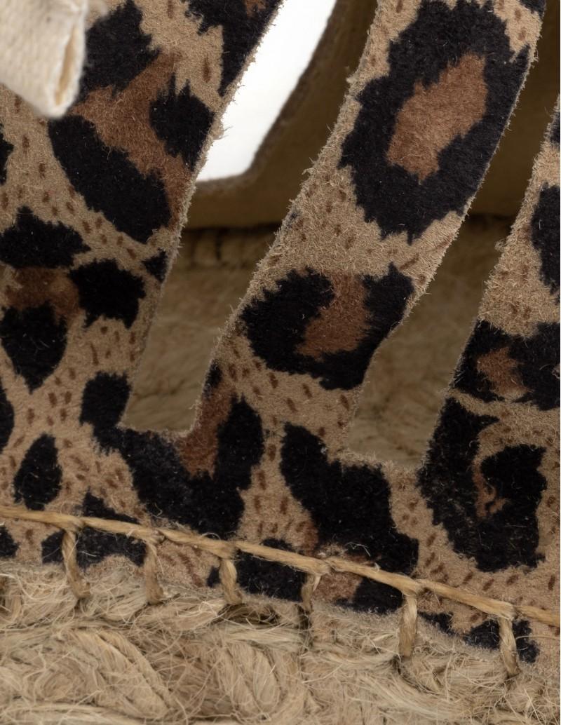 alpargatas sandalias leopardo