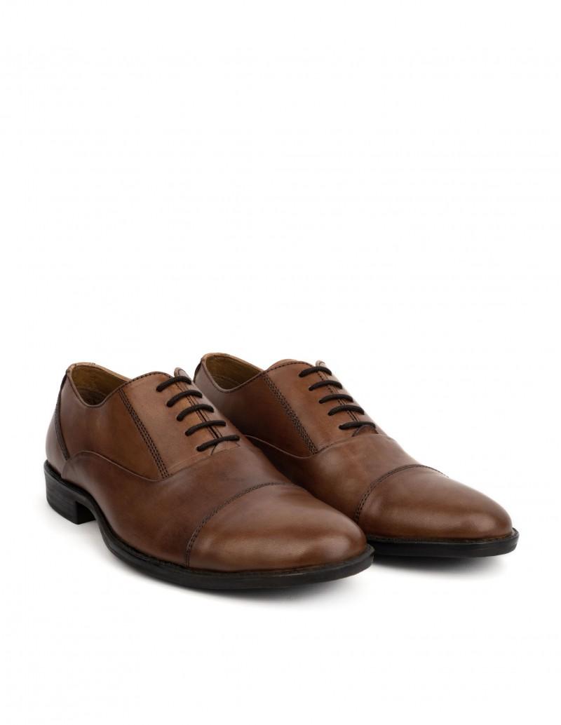 zapatos de separación 78fb4 d40fa Zapatos Vestir Cordones Costuras Marrones