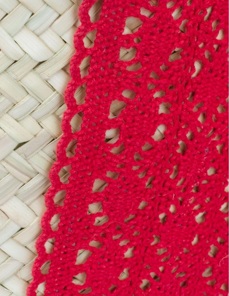 Capazo Playa Encaje Rojo