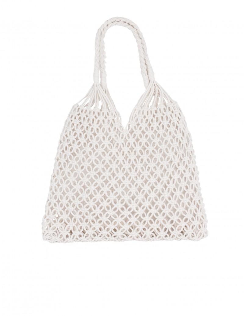 Bolso Crochet Blanco Roto