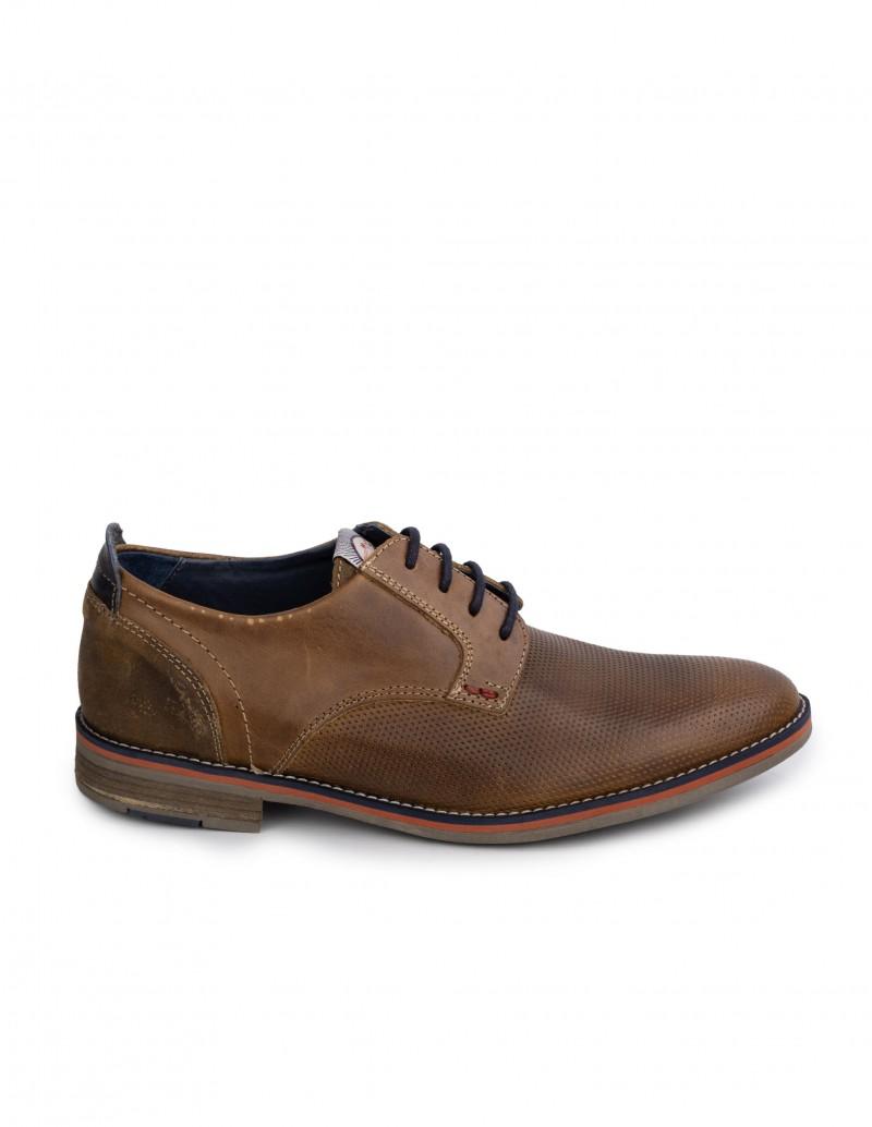 Zapatos Cordones Piel Marrón