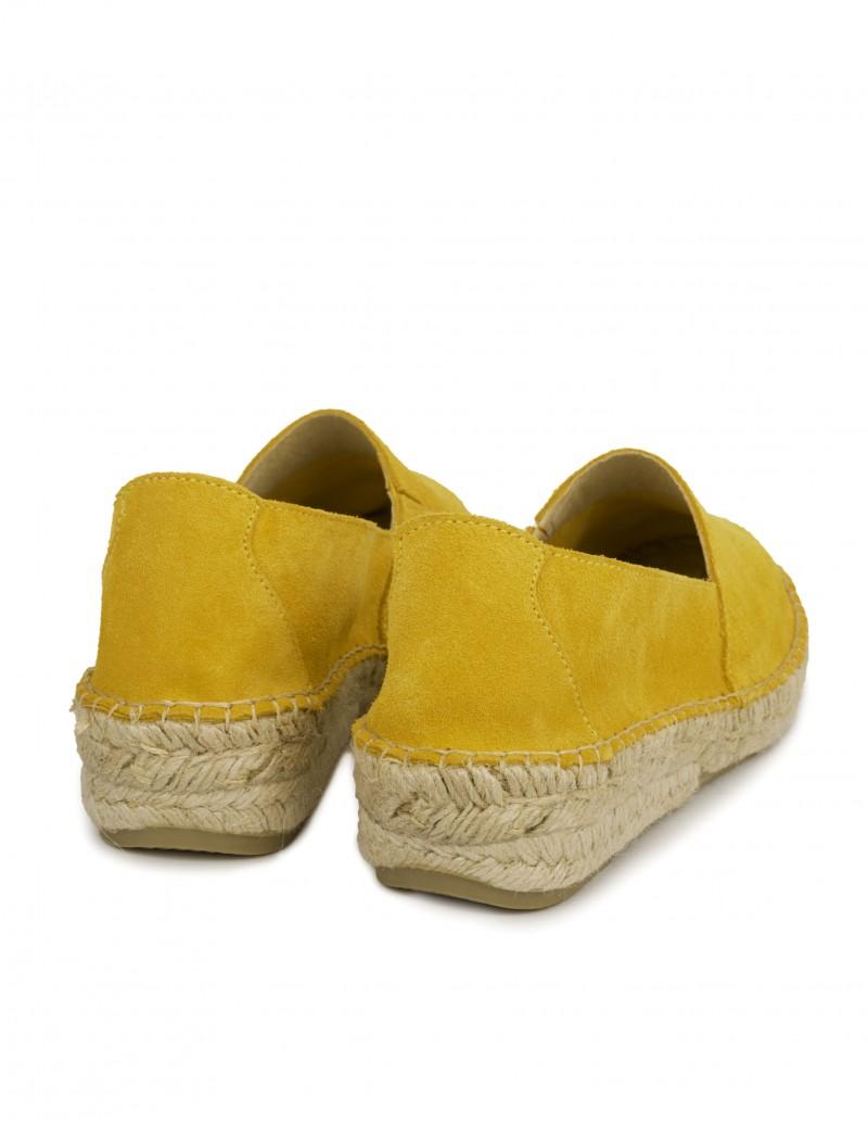 alpargatas mujer cuña baja amarillas