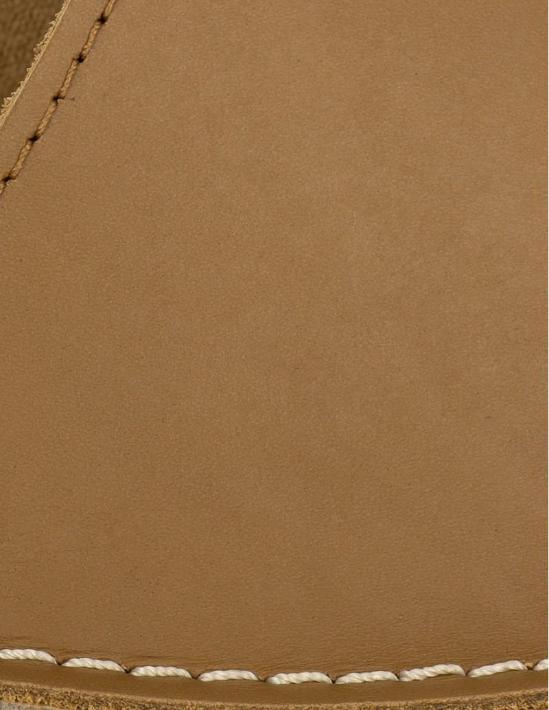 sandalias planas mujer piel cuero
