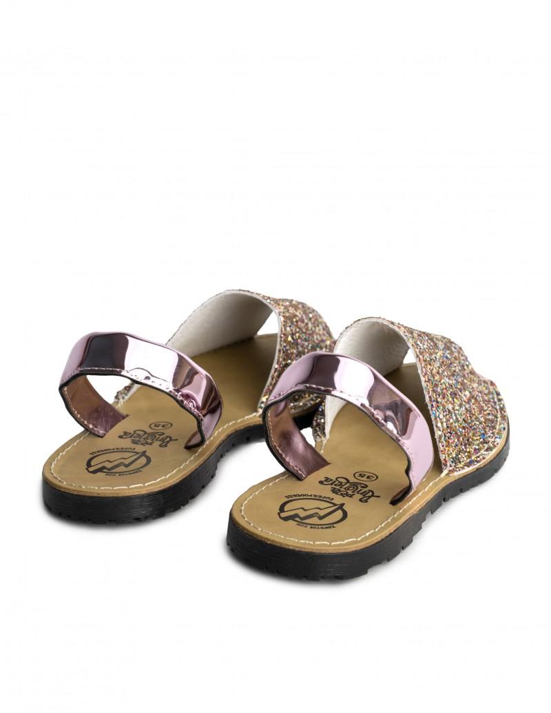 sandalias menorquinas mujer glitter