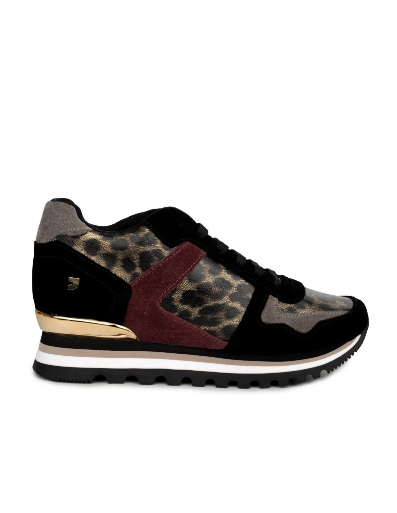 Gioseppo deportivas leopardo cuña interior