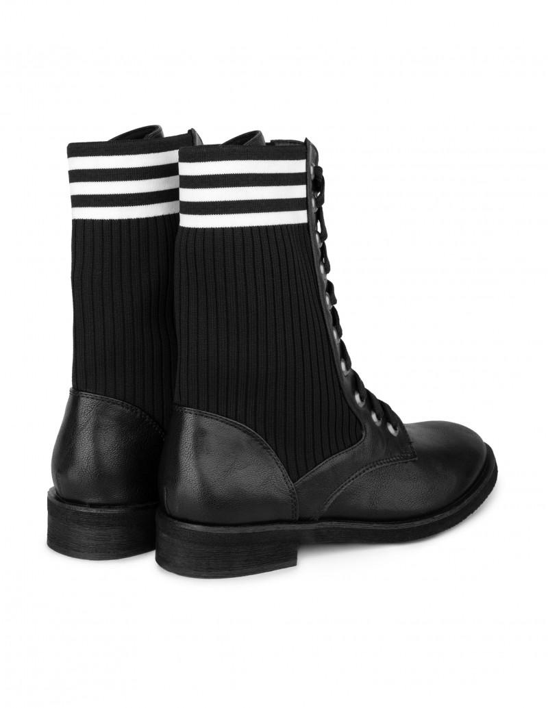 botas tipo boxeadora calcetin