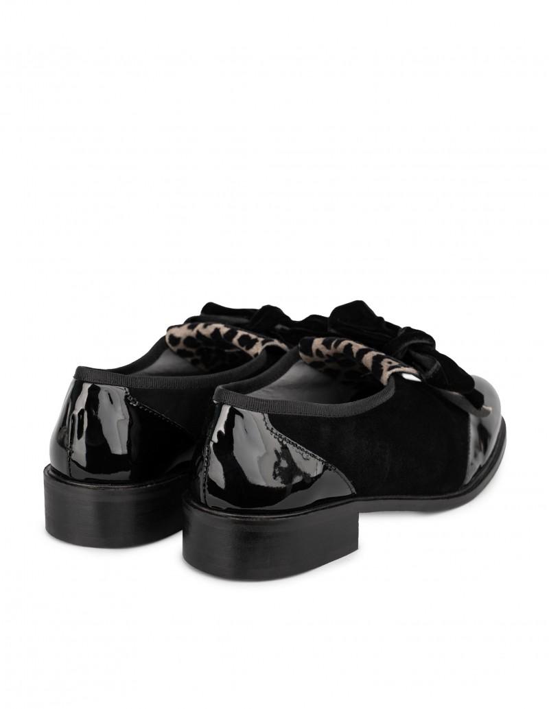 zapatos charol leopardo mujer