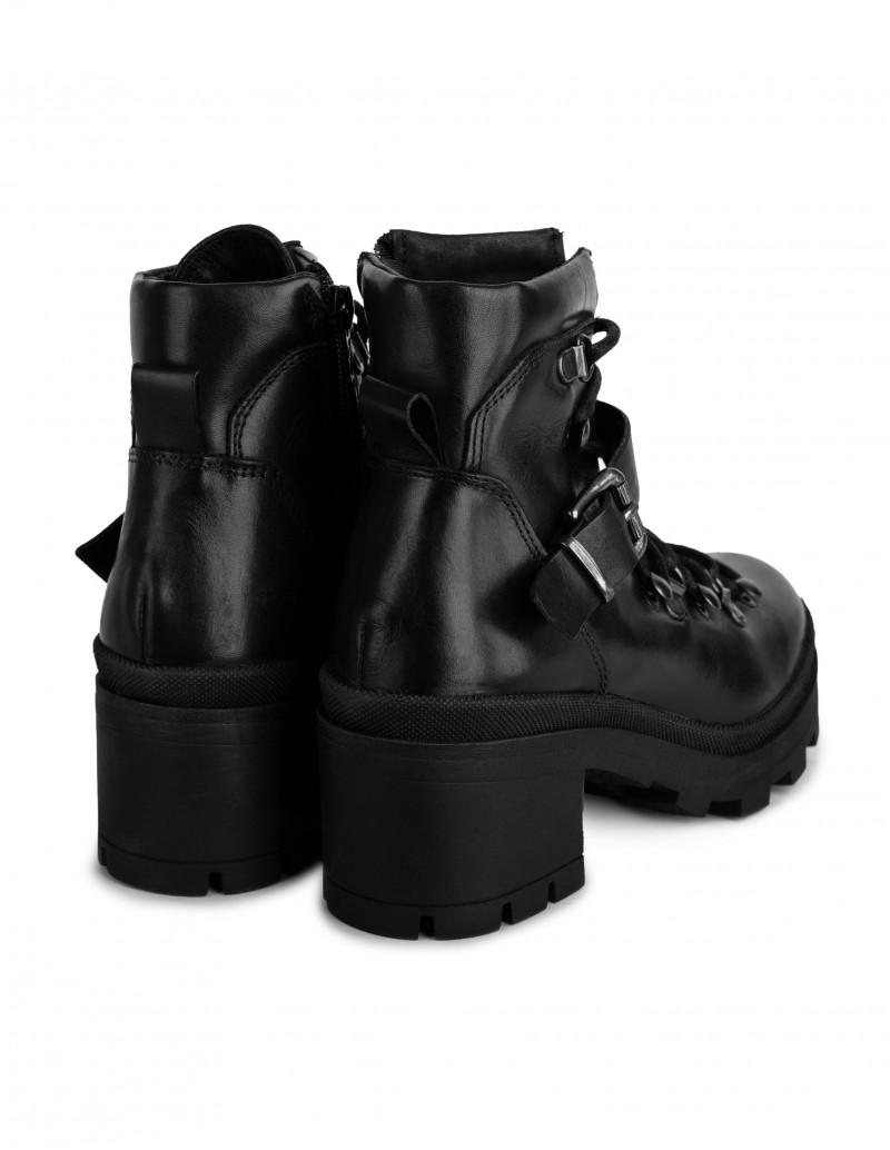 botas moteras tacón mujer