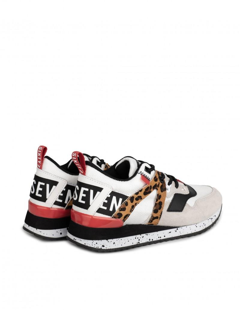 zapatillas mujer blancas y leopardo