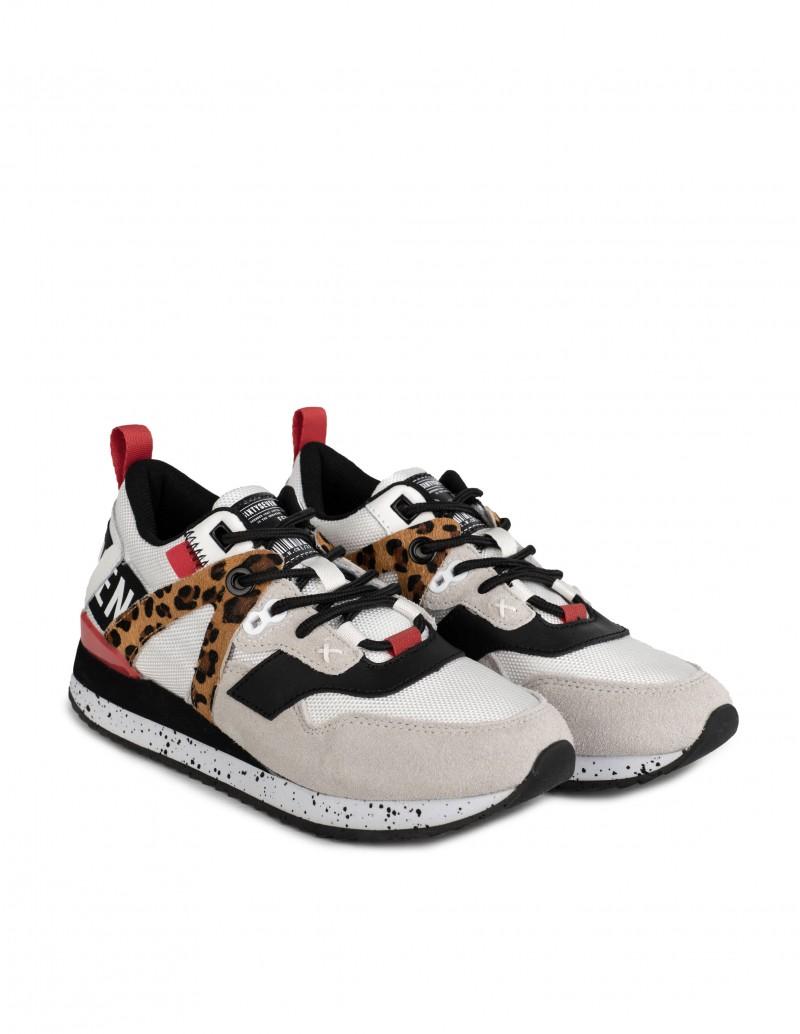 zapatillas blancas print leopardo