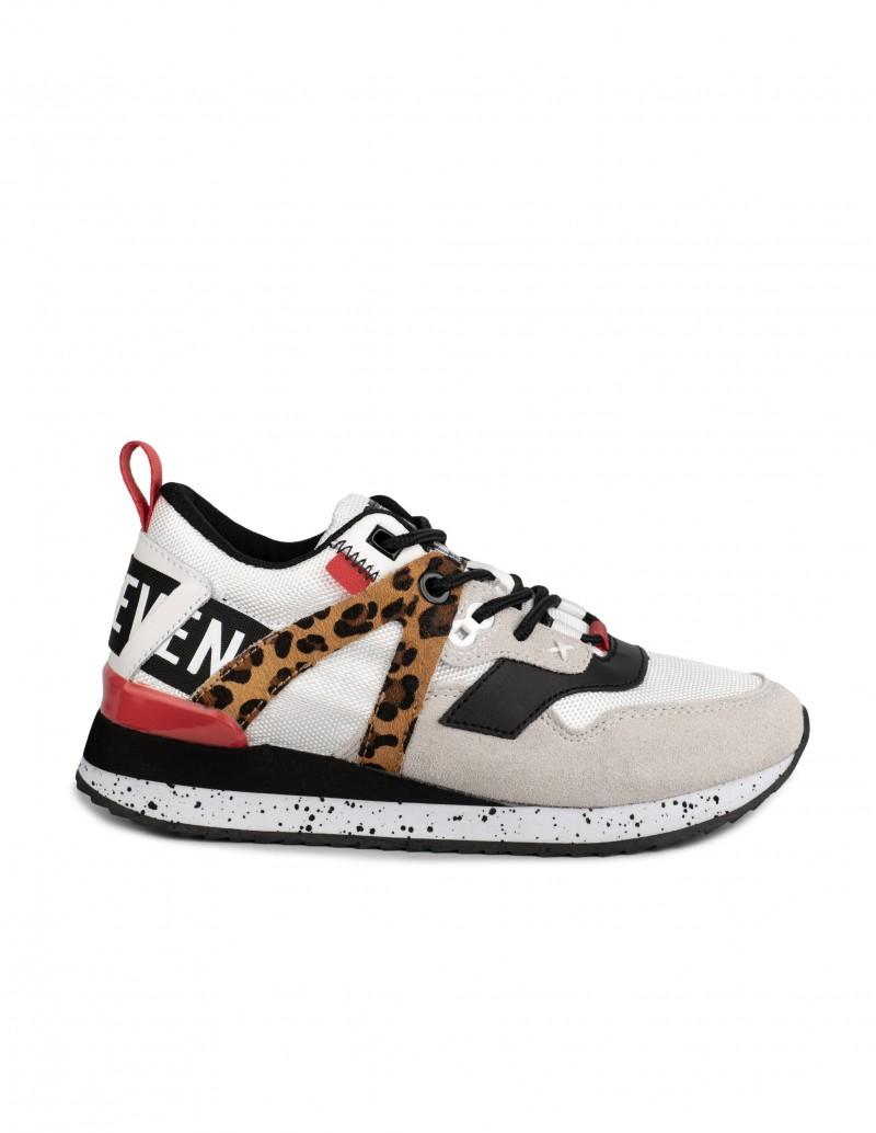 Sixty Seven deportivas blancas leopardo