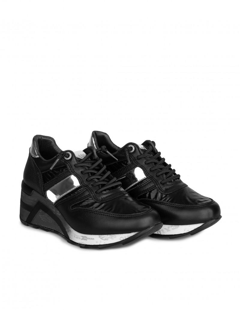 zapatillas cuña negras mujer