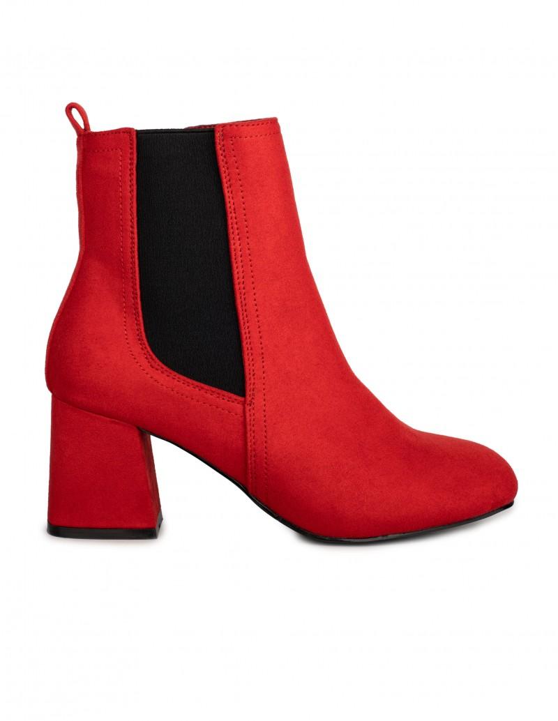Maria Mare botines rojos tacon cuadrado