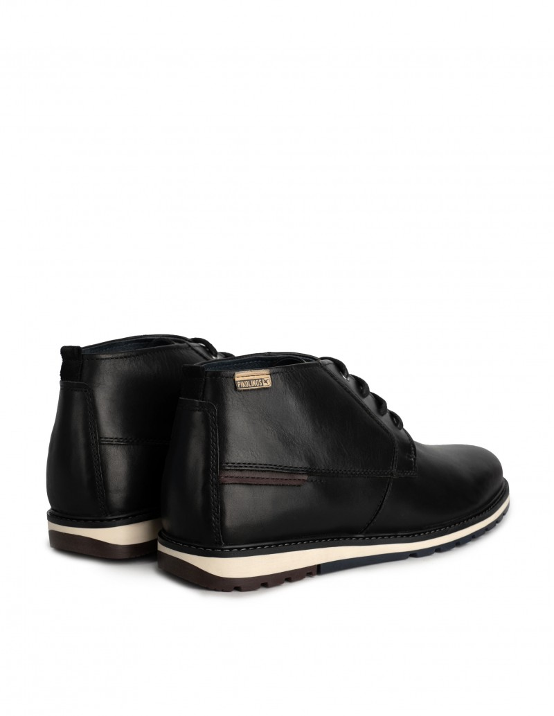 botas cordones hombre negros