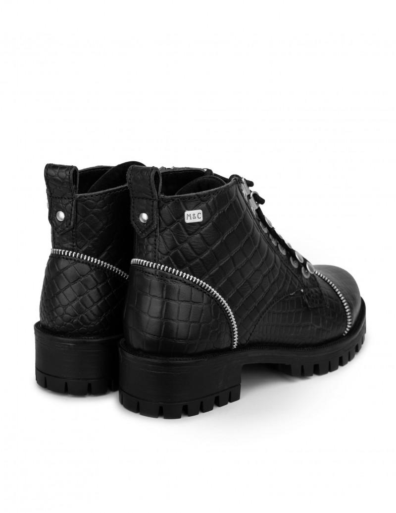 botas negras piel coco mujer