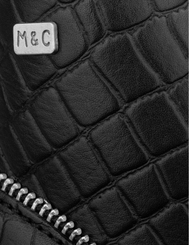 botas piel cocodrilo negras