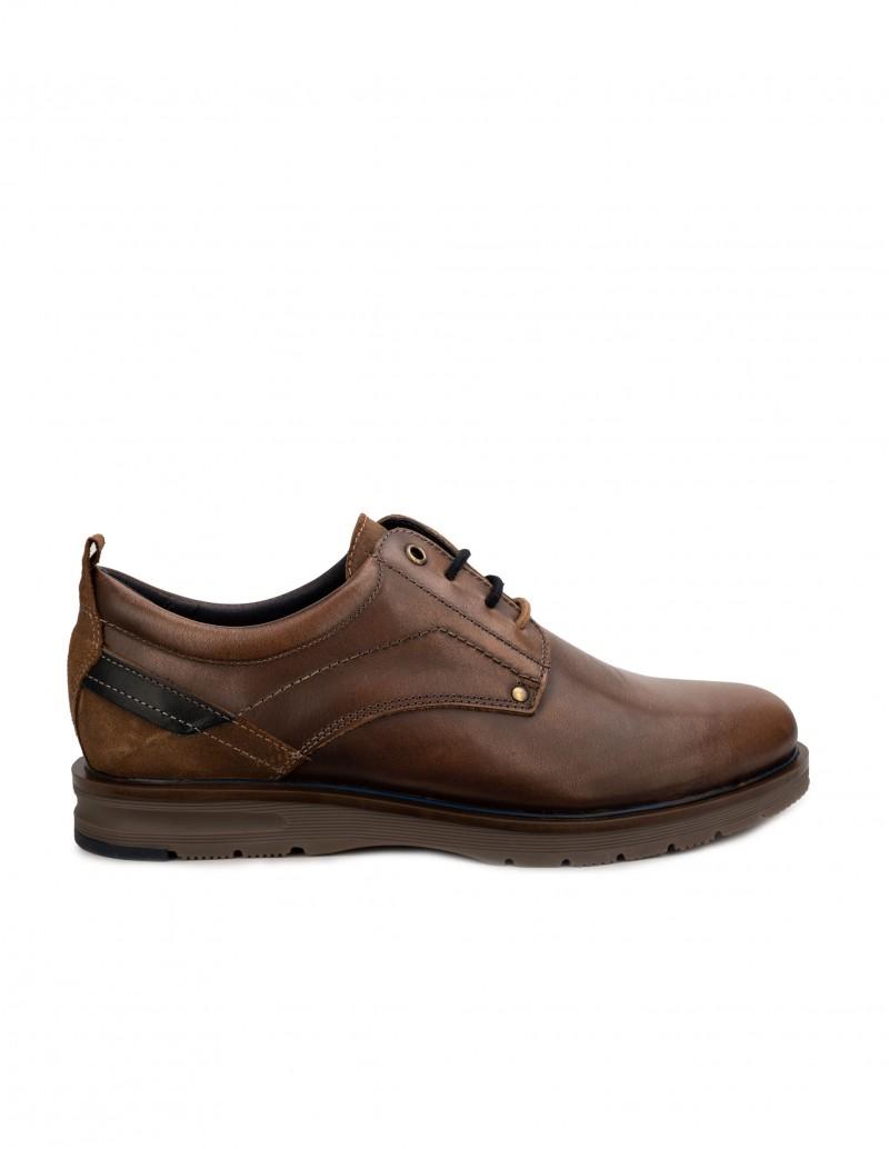 Zapatos Piel Cordones Marrón