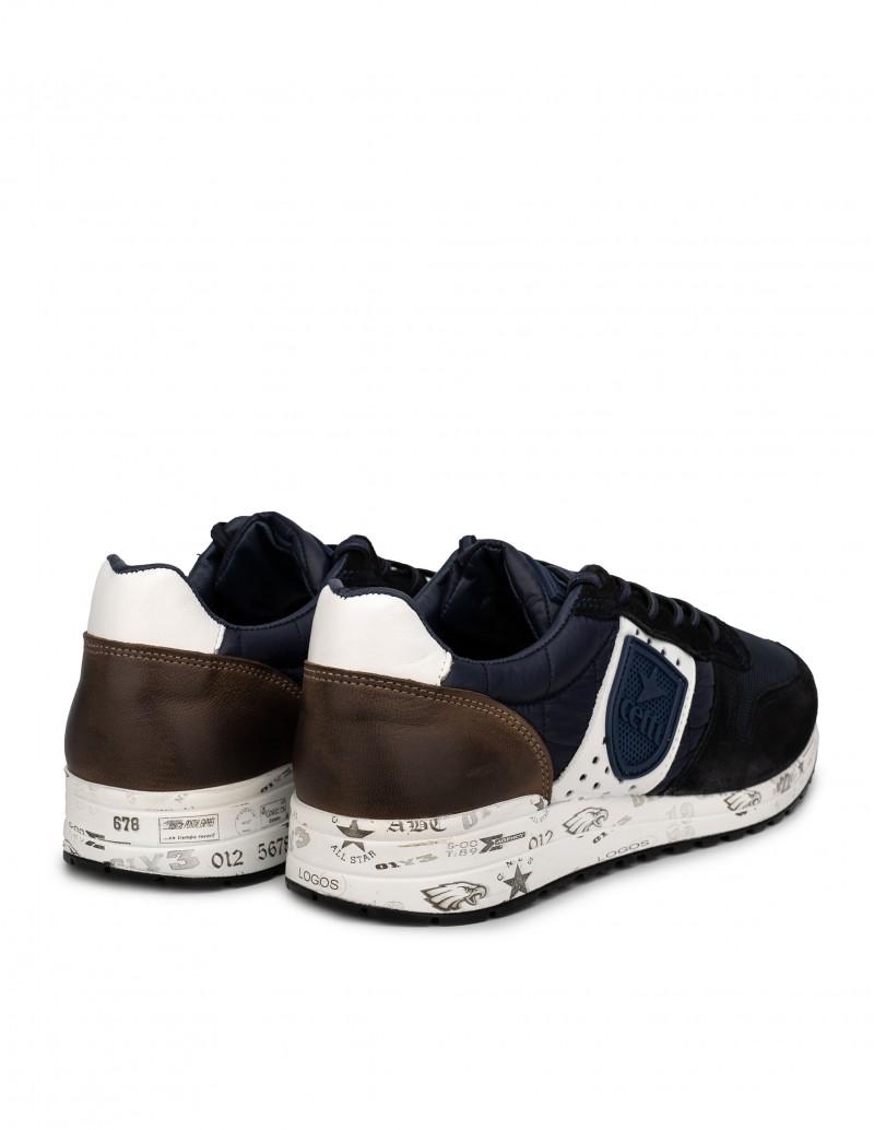 Zapatillas azules hombre suela graffiti