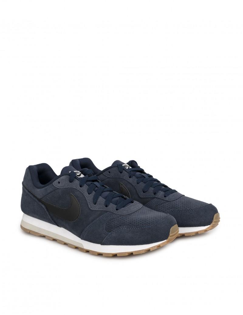 zapatillas nike md runner 2 azul marino blanco
