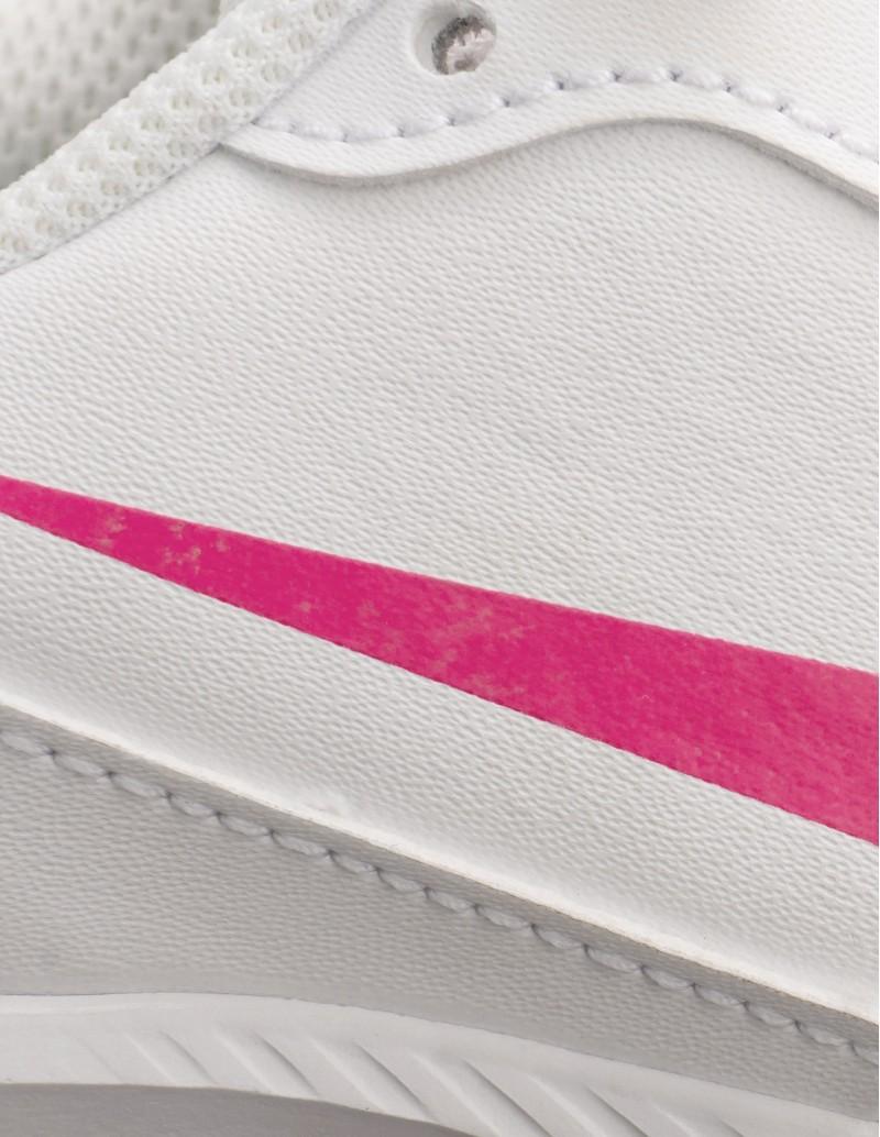 NIKE Deportivas Todos Blancas Logo Rosa Mujer