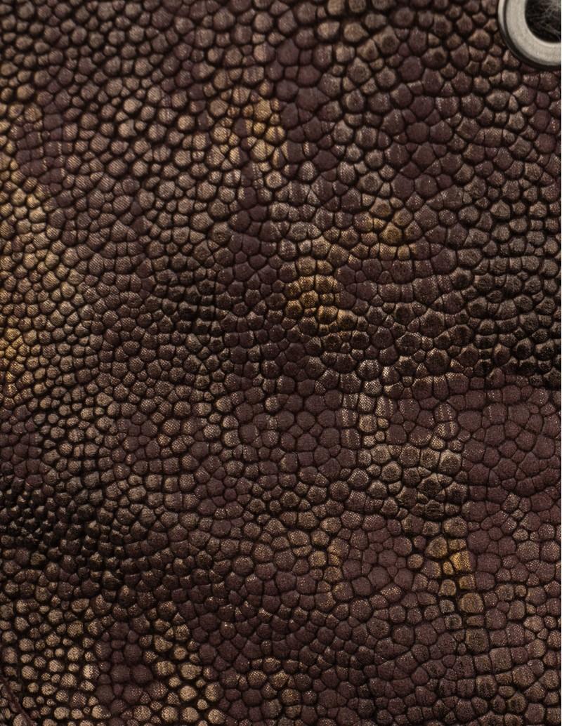 botines piel dorada burdeos