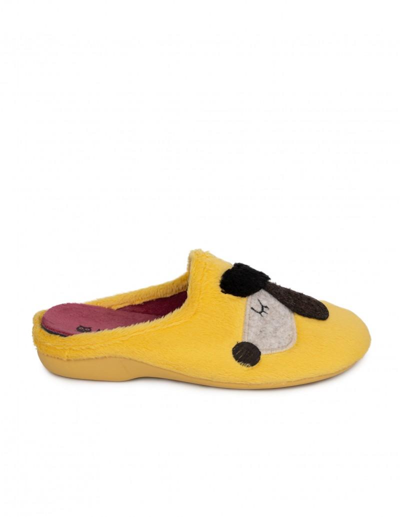 Zapatillas Casa Amarillas Perro