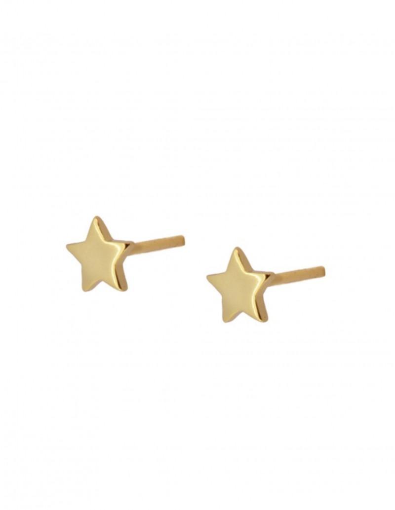 Pendientes Estrella Oro Mujer