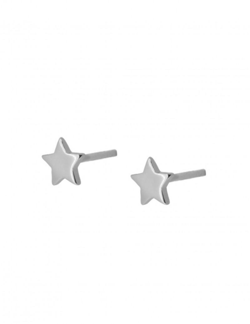 Pendientes Estrella Plata Mujer