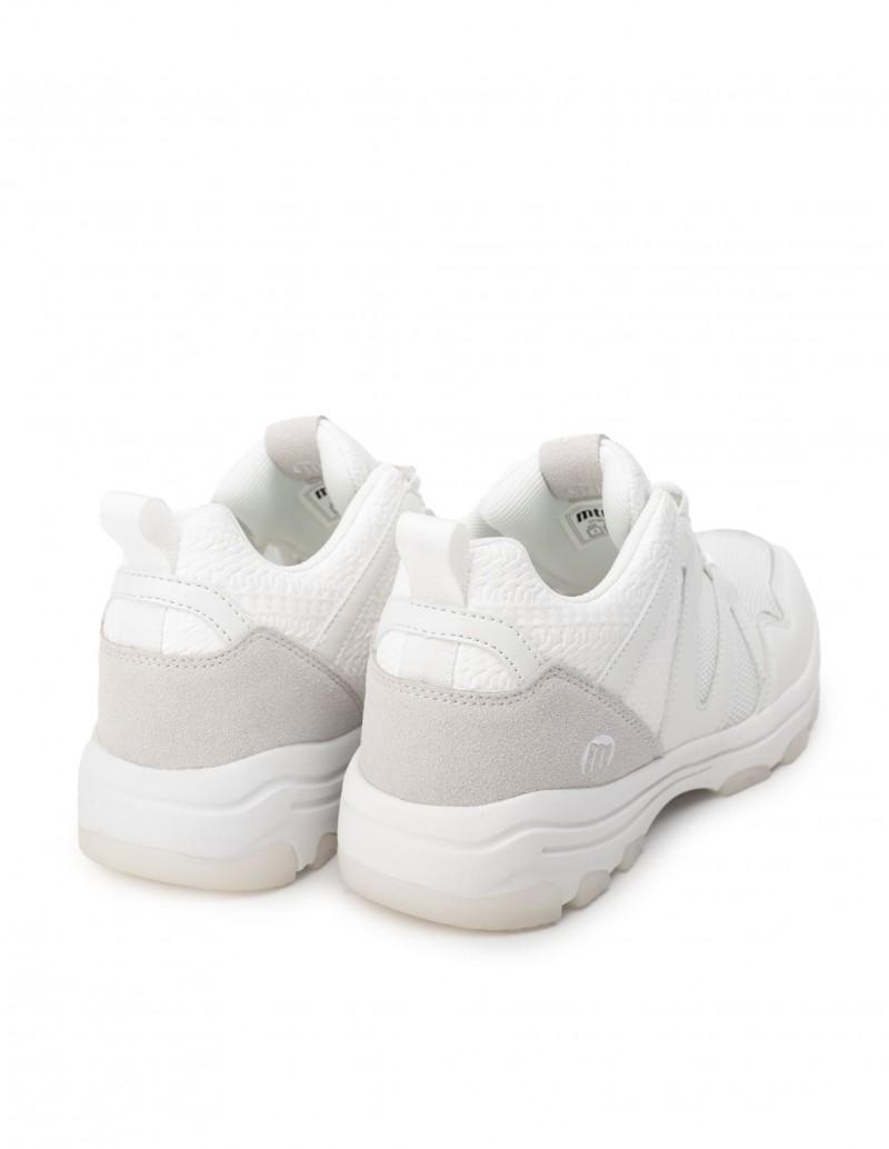 zapatillas blancas plataforma mujer