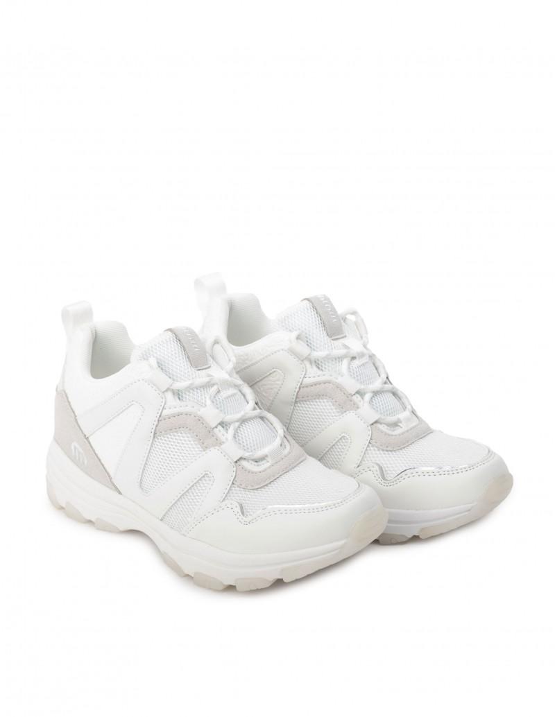 Zapatillas blancas con cuña Interior