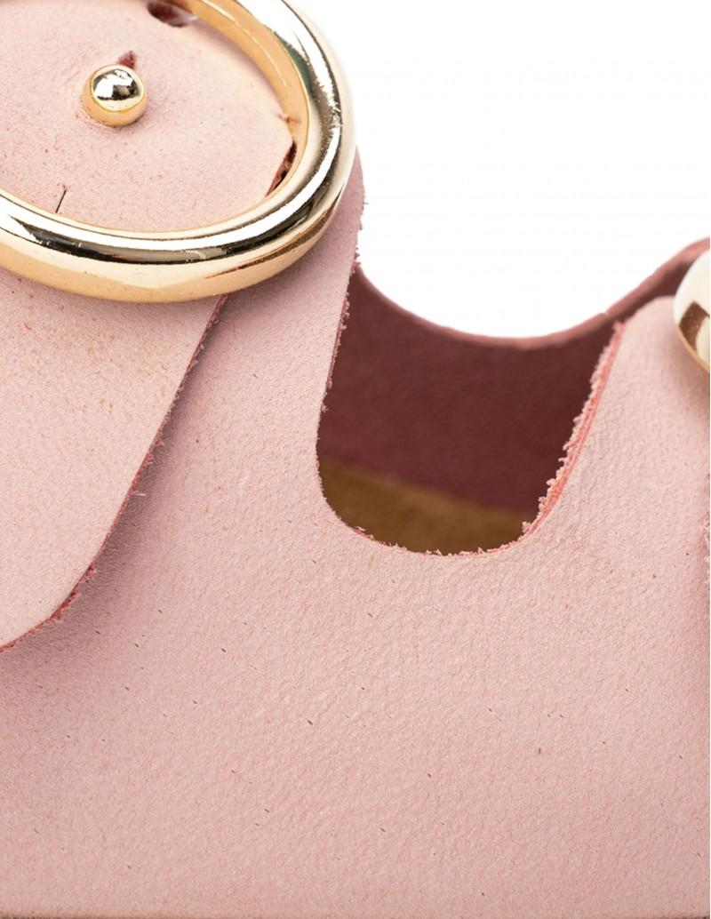 Autenti sandalias rosa pastel