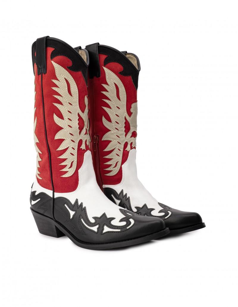 botas cowboy altas colores