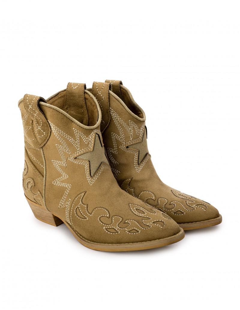Botines Cowboy Camel Estrella
