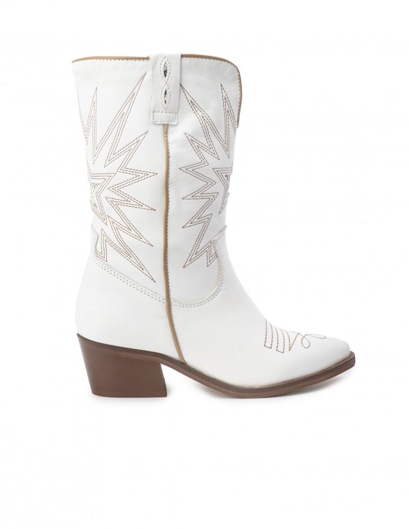 VEXED Botas Cowboy Blancas Estrella