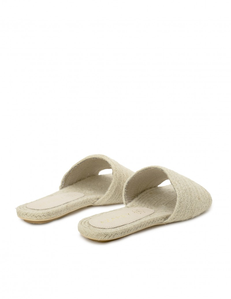 sandalias rafia trenzada mujer