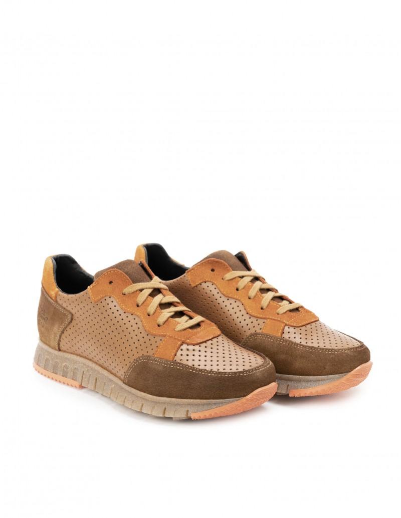 Zapatos Sport Hombre Piel Marrón