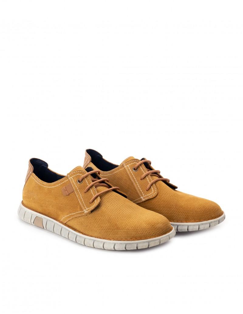 Zapatos Cordones Cuero Suela Deportiva