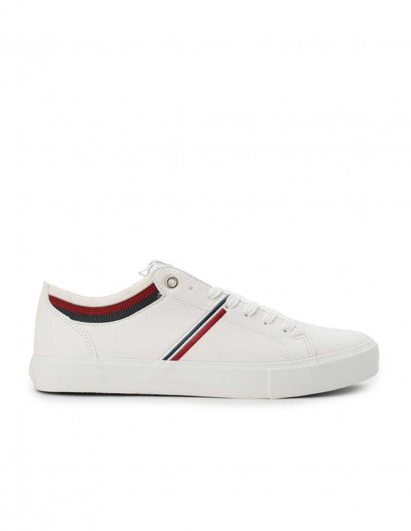 LEVIS Zapatillas Blancas Calcetín
