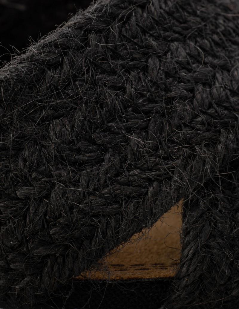sandalias rafia negras
