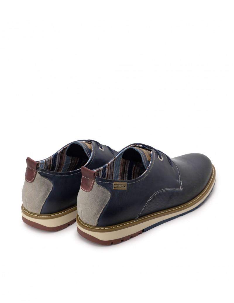 zapatos deportivos cordones azul