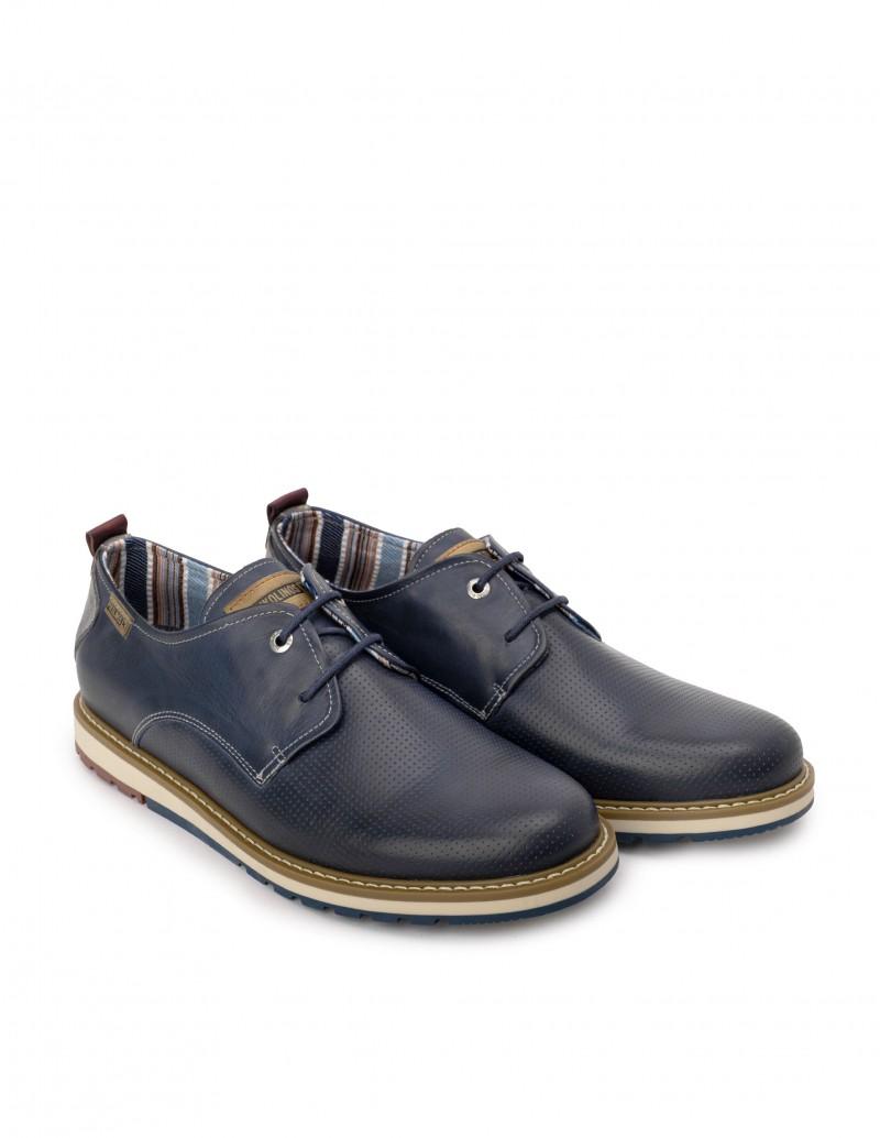 Zapatos Sport Cordones Hombre Azul Marino