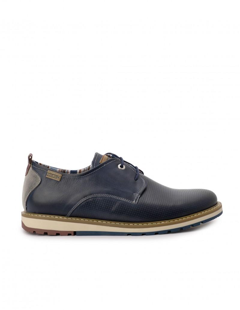 PIKOLINOS Zapatos Sport Cordones Piel Azul