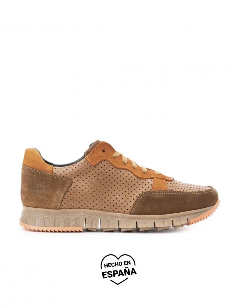 Zapatos Sport Piel Marrón