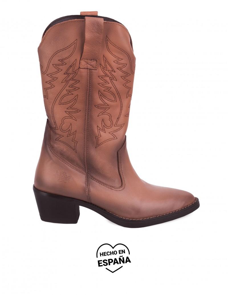 Botas Cowboy Cuero Marrón PERA LIMONERA