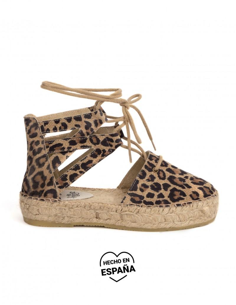alpargatas lace up leopardo