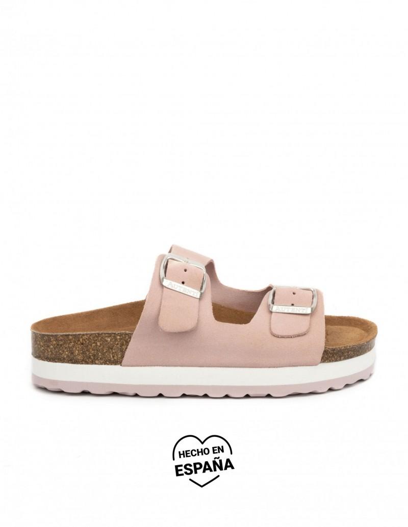 sandalias bio rosa palo mujer