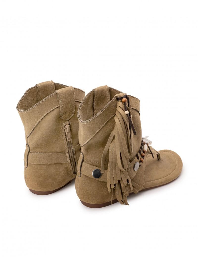 sandalias bota boho beige