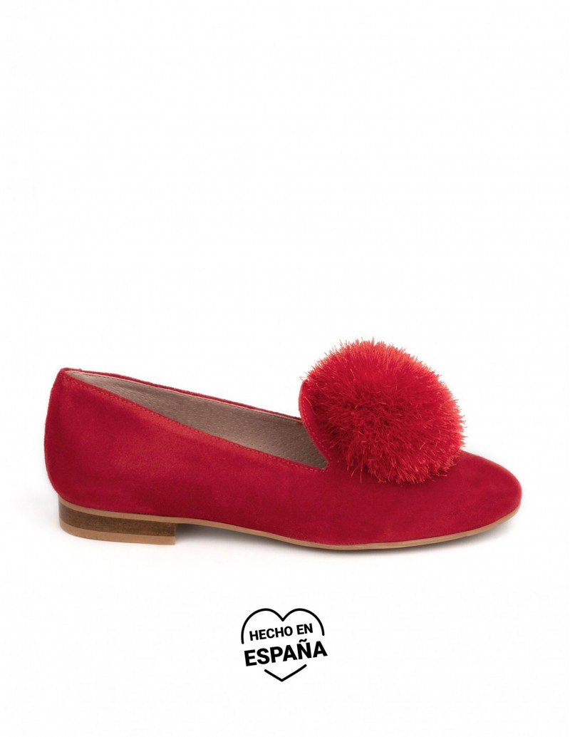Bailarinas Slippers Pompón Rojo